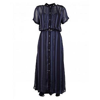 Nu Denmark Striped Belted Shirt Dress