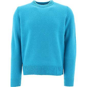 Acne Studios 29g173kai Uomini's Maglione in lana blu chiaro