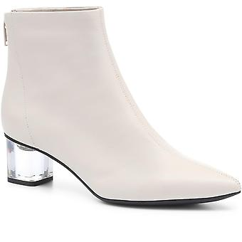 Staccato Womens Block Heeled Leather Ankle Boot