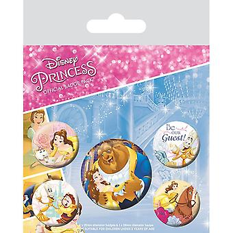 Beauty and the Beast Classic Pin Button Badges Set
