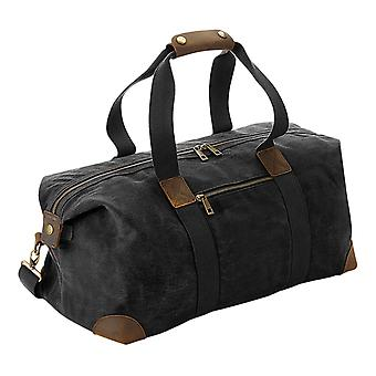Quadra Heritage Leather Accented Waxed Canvas Holdall