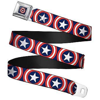 Marvel Kapteeni Amerikka Shield Toista Navy Vyövyö Solki Vyö