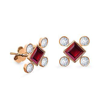 Korvakorut Cardinal Stud 18K kulta ja timantit (yksi kappale)