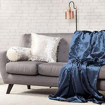 Trocando sofás 135cm x 240cm crepúsculo esmagado veludo soft touch throw