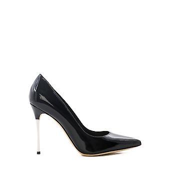 Sergio Rossi A85362mviv011000 Women's Black Leather Pumps