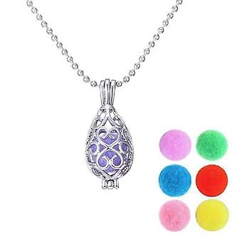 Filigree aromatherapy scent diffuser locket necklace