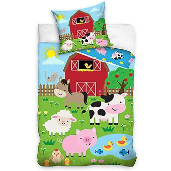Farm Animals Single Dekbed Cover Set - Europese grootte