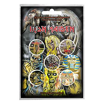 Iron Maiden badge pack Albums band logo Killers new Official 5 x Pin Button