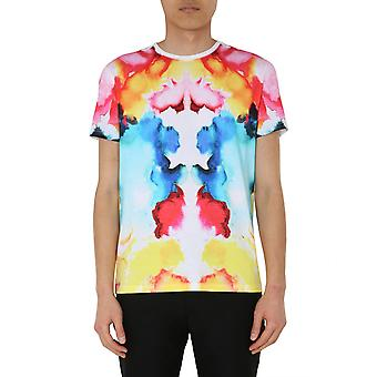 Alexander Mcqueen 609576qoz900900 Mænd's Multicolor Bomuld T-shirt