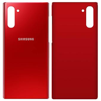 Housing part back cover, spare part for Samsung Galaxy Note 10 - Red