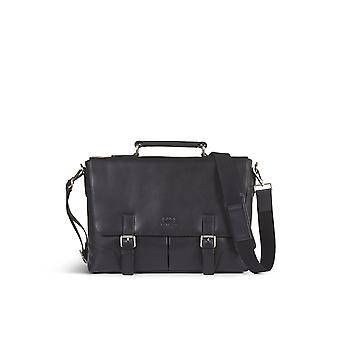 Leather briefcase bag james black