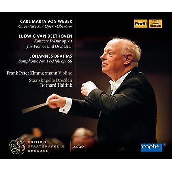 Beethoven / Brahms / Haitink / Zimermann / Haitink - Edition Staatskapelle Dresden: Carl Maria Von [CD] USA import