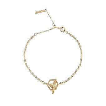 Olivia Burton Watches Obj16amb32 Honeycomb Bee Chain Bracelet Gold