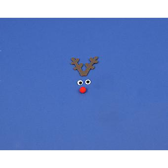 Kit to Make a Single Mini Rudolph Reindeer Face