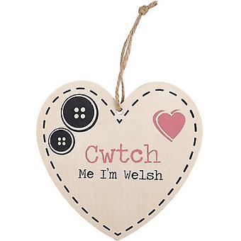 شيء مختلف Cwtch لي أنا الويلزية شنقا علامة القلب