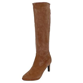 Peter Kaiser Pauline Pull On Stretch Knee High Boots In Sable Suede