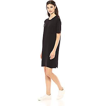 Marka - Daily Ritual Women&s Supersoft Terry Short-Sleeve Boxy Pocket T-Shirt Dress, Czarny, X-Small