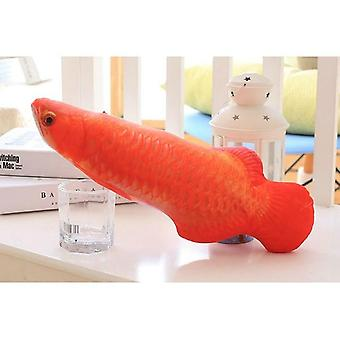 Interactive Soft Plush 3d Fish Catnip Stuffed Pillow Doll Simulation Playing Fish Toy For Pet