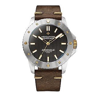 Meccaniche Veneziane 1303002 Arsenale Automatic Brown Leather Wristwatch