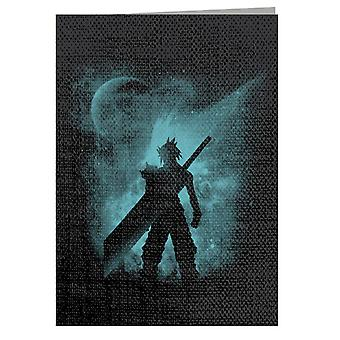 Ex Soldier Sihouette Cloud Strife Final Fantasy VII Greeting Card