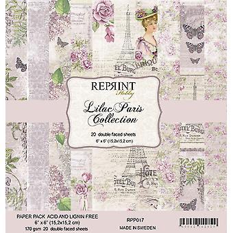 Reprint Lilac Paris 6x6 Inch Paper Pack