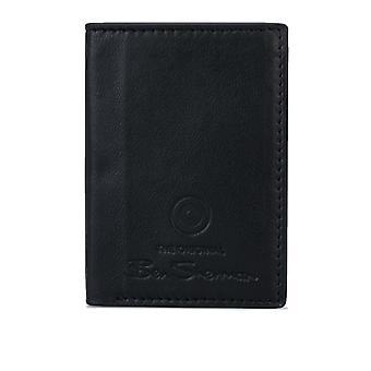 Accessoires Ben Sherman Dack Cuir RFID Card Holder Portefeuille en noir