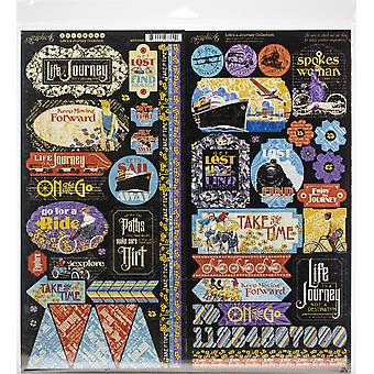 Graphic 45 Life-apos;s a Journey 12x12 Inch Collection Pack