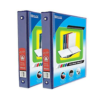 Combo39, BAZIC 1 Inch 3-Ring View Binder with 2-Pockets (Case pack of 24: Blue)