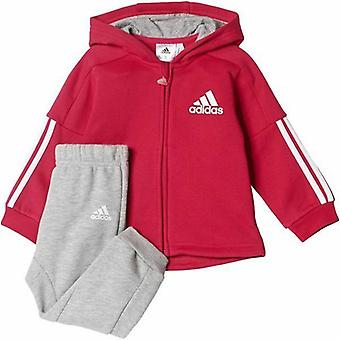 Adidas Infant Sports Hooded Full Zip Tracksuit  CE9673