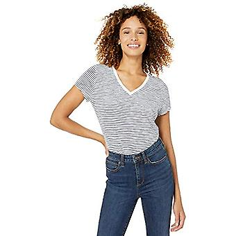 العلامة التجارية - Goodthreads Women's خمر القطن جيب V-Neck تي شيرت, Crea ...
