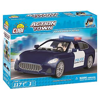 Cobi Action Town Police Car Building Blocks Bricks Compatible High Quality 117 Pieces 1548