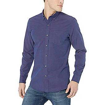 Goodthreads Men's Standard-Fit Langarm Poplin Shirt, Navy Red Horizontal ...