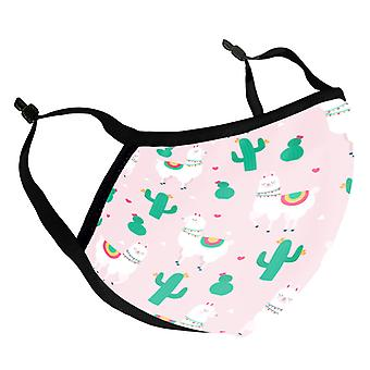 Llamas & Cacti Kid's Reusable Fabric Face Mask