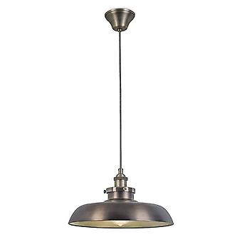 1 Light Dome Ceiling Pendant Antique Brass, Bronze, E27