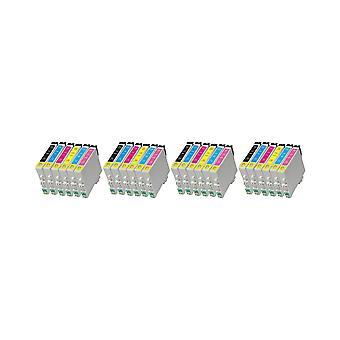 RudyTwos 4 x reemplazo de unidad de sistema de tinta Epson Caballito negro cian Magenta amarillo Light cian y Light Magenta Compatible con Stylus Photo R200, R220, R300, R300M, R320, R325, R330, R340, R350, RX300,