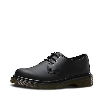 Dr martens youth mono lace-up black school shoes