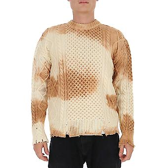 Laneus Mgu761cc30var1 Men's Beige Wool Sweater
