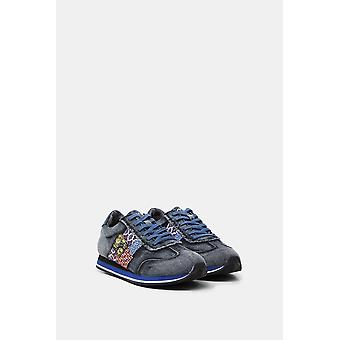 Desigual Pegaso Patch Boho Denim Running Style Trainers 20WSKD03 42