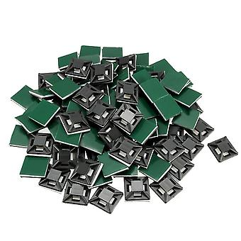 12.5x12.5mm Self Adhesive Cable Clips, Mounts Wire Base Holders, Cable