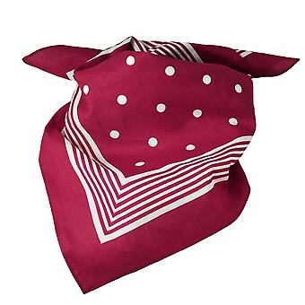 Krawatten Planet Burgund mit weißen Streifen & Polka Dot Bandana Neckerchief