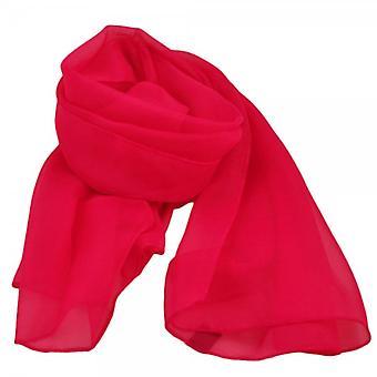 Ties Planet Bright Pink Chiffon Scarf