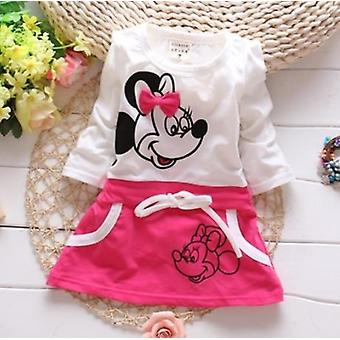 New Fashion Girls' Dress Suit For 100% Pure Cotton Summer Minnie Beauty