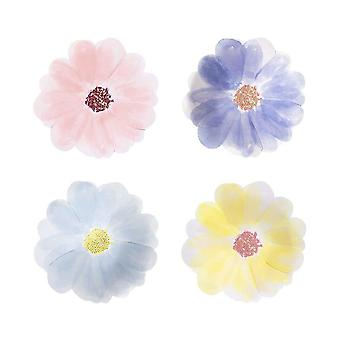 Meri Meri Small Garden Party Flower Plates x 8