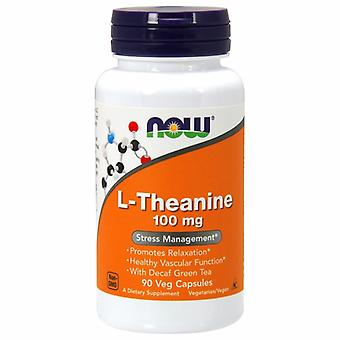 Now Foods L-Theanine, 100 mg, 90 Vcaps