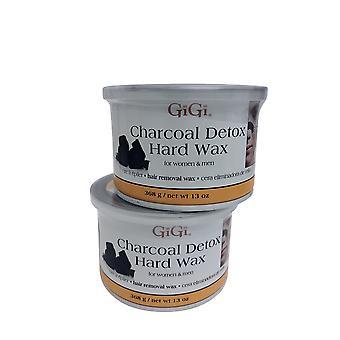 GiGi Charcoal Detox Hard Wax 13 OZ Pack of 2