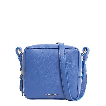 Sara Battaglia B217fw18946 Women's Blue Leather Shoulder Bag