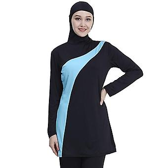 Long Sleeve Muslim Swimsuit, Women Muslim Swimwear Nylon Burkini Swimming