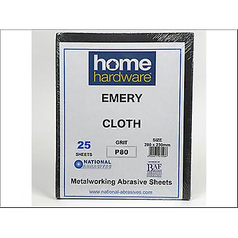 Home DIY (Paint Brushes) Emery Cloth Quire P80/1.5 x 25 070286
