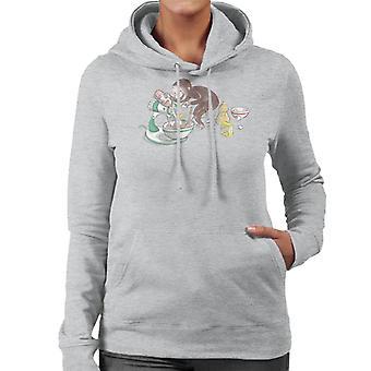 Neugierige George Kochen Frauen's Kapuzen Sweatshirt