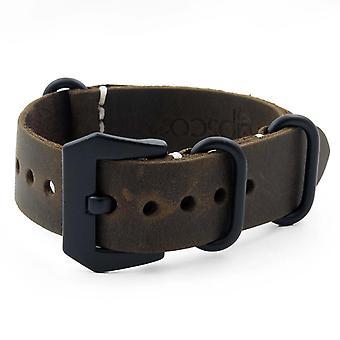 Strapsco brun vintage læder n.a.t.o rem